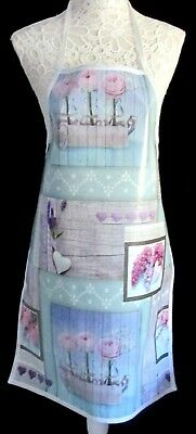 Shabby Chic Apron / Pinny – Pvc/oilcloth Wipeclean Craft Cooking Baking