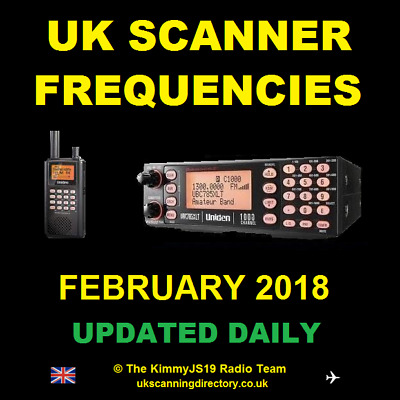 UK SCANNING DIRECTORY February 2018 - Scanner Frequencies CD (Updated Daily)