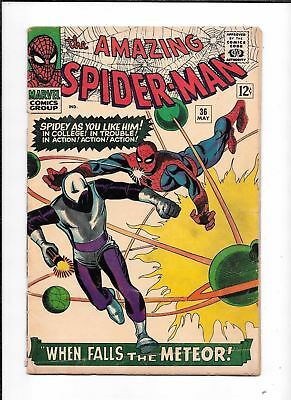 The Amazing Spider-Man #36 ==> Vg+ 1St Appearance Of The Looter Marvel 1966
