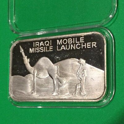 Iraqi Mobile Missile Launcher Collectible Bar 1 Troy Oz .999 Fine Silver Ingot