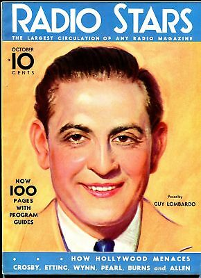 Radio Stars #1 10/1933-Dell-1st issue-Burns & Allen-Bing Crosby-Guy Lombardo-VF