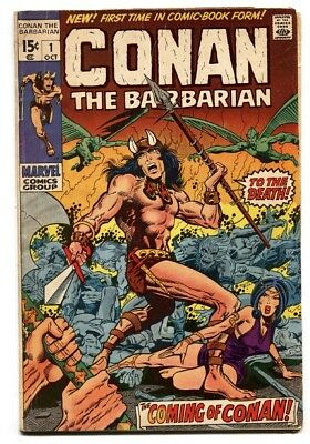 CONAN THE BARBARIAN #1 comic book 1970 -- BRONZE AGE KEY--MARVEL BARRY SMITH
