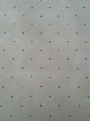 Village WallPaPer- beige with small red dots-5813421- 1 double roll