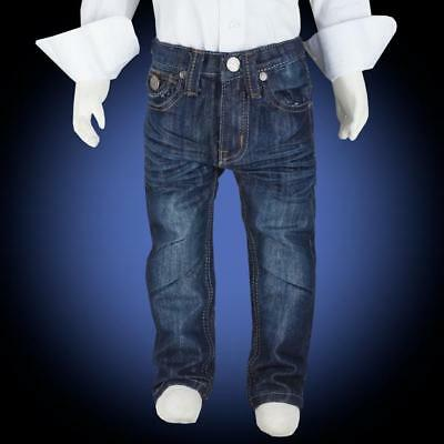 Boys Trendy Wrinkled Kids Jeans Size 8-16 with Stitched Pocket Details