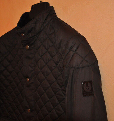 Belstaff Gold Label Men's Black Quilted Biker Jacket Size L Large P2P 20.5""