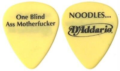 The Offspring Noodles authentic 2000 tour One Blind Ass Motherf*cker Guitar Pick