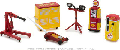 Greenlight 1/64 SHELL OIL Muscle Shop Tools Great For Dioramas! 13158