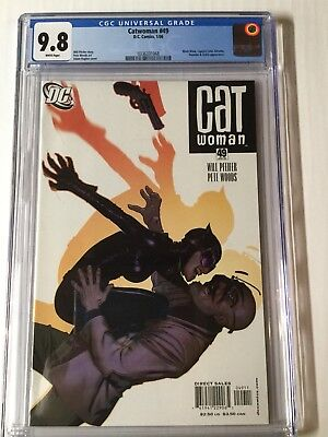 Catwoman 49 Cgc 9.8 White Pages Adam Hughes Cover AH!