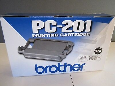 Genuine & Sealed Brother PC-201 Black Fax Printing Cartridge New