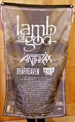 Anthrax Huge 3 x 5 ft. Flag Banner Lamb of God Rock Metal man cave poster
