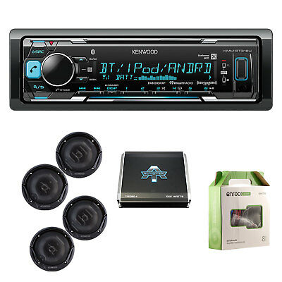 1DIN In-Dash Receiver, 2-Way Coaxial Speakers, Autotek 4 Chan Amp & 18G 50' Wire