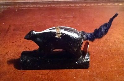 Vintage Cast Iron Skunk Paperweight Bank, 1940's Howe Caverns NY Penny Holder.