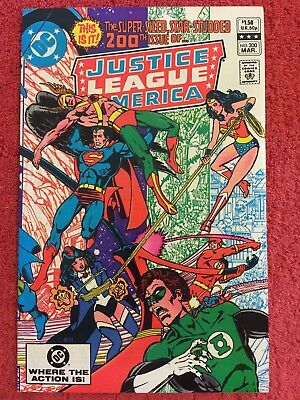 Justice League of America (1st) 200 DC LOT of 1 1982 VF+ Conway Perez Kane Aparo