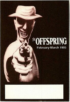 The Offspring authentic 1995 Smash Tour satin cloth Backstage Pass black