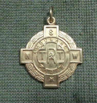 #S3.  Nsw R.t. & T. Ambulance Corps Gold Efficiency Badge - 1950, Life Member