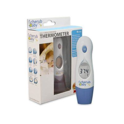 Cherub Baby 4-in-1 Ear & Forehead Digital Thermometer Newborn Children Adult V1