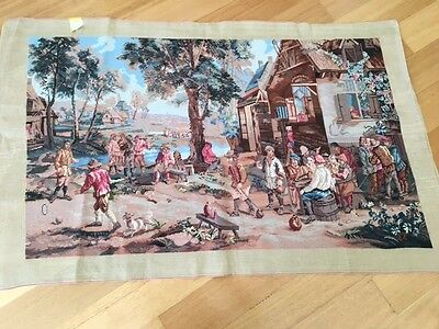 Tapestry Hand Embroidery Hanging Medieval 128Cm By 77Cm New