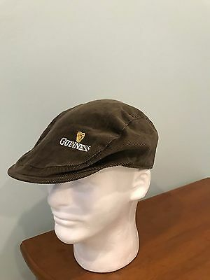 Guinness Beer Newsboy Brown Corduroy Cap Embroidered