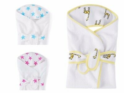 Aden + Anais cosy hooded baby bath towel wrap white newborn gift soft and & cosy