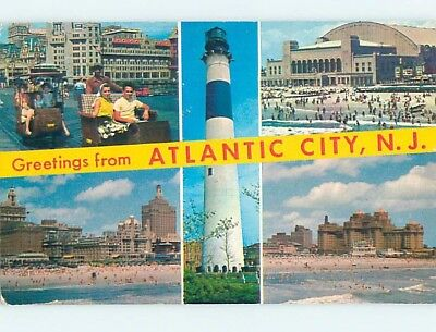 Pre-1980 MULTIPLE VIEWS ON CARD Atlantic City New Jersey NJ ho8154