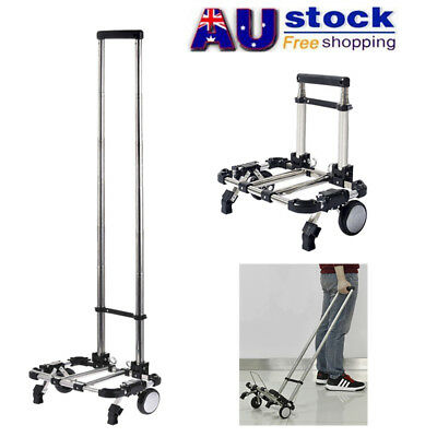 AU Foldable Shopping Trolley Collapsible Luggage Wheels Cart Hand Travel Truck