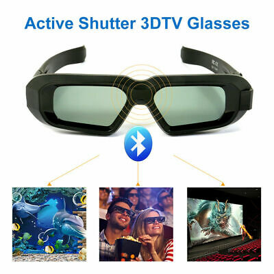 Bluetooth Active 3D Glasses Work for 3DTV Panasonic and Epson Projector TW5210