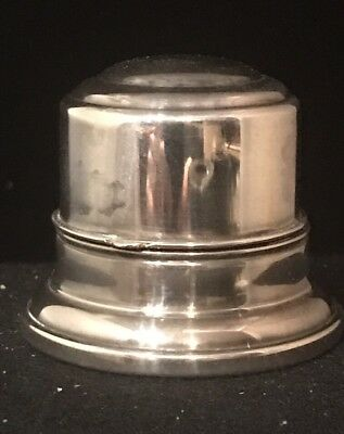 Plain Domed Sterling Ring Box Hinged Lid By Birks