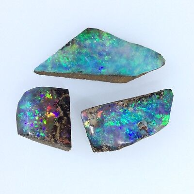 Australian Boulder Opal LAPIDARY ROUGH pieces by Smart Opals