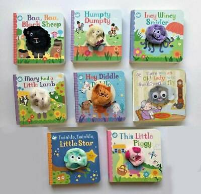 humpty dumpty incy baa baa black sheep hey diddle set of 4 finger puppet books