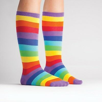 Sock It To Me Rainbow Bright Kids Knee High Socks Cool Pride Fun Colourful Gift