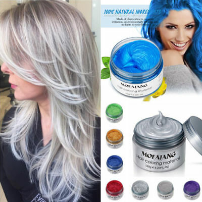 7Colors Hair Color Pomades MOFAJANG Wax Mud Dye Styling Cream Disposable DIY