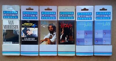 Lot de 6 K7 cassettes audio Single neuves blister Van Morisson Chris Rea etc