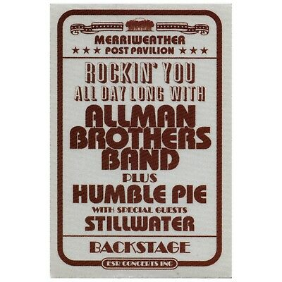 Almost Famous authentic 2000 movie prop satin Backstage Pass Allman Brothers