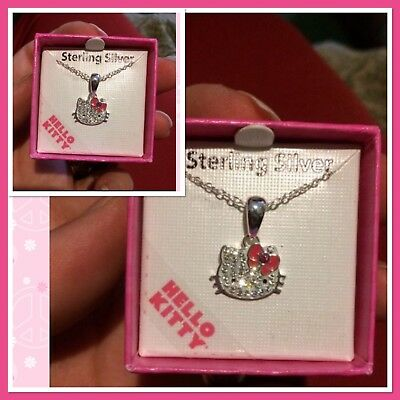 Hello Kitty Solid Sterling Silver Necklace **brand New**