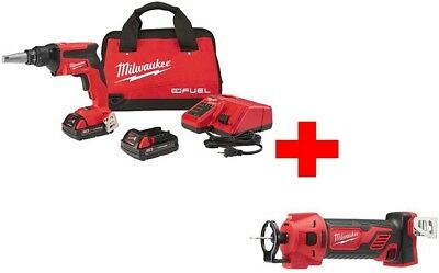 MILWAUKEE 18V Brushless Cordless Drywall Screw Gun Compact Kit M18 Cut Out Tool