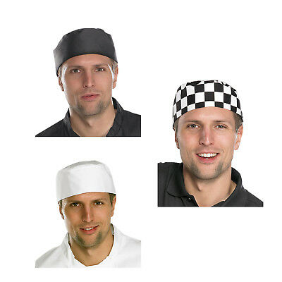 Click Chefs Skull Cap Hat Quality 100% Cotton Catering Cook Kitchen Food Hygiene