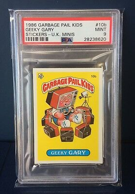Geeky Gary 10b UK Garbage Pail Kids Series 1 (1985)PSA 9 MINT ~ Rare