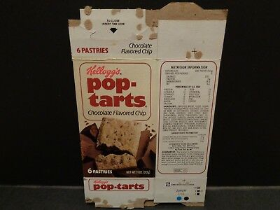 Vintage 1980s Kelloggs Pop Tarts Box Chocolate Flavored Chip  BOX Only