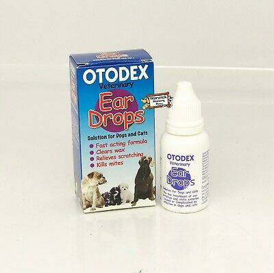 Veterinary Ear Drops Kills Mites Fast Acting Dog & Cats Otodex 14ml by petlife