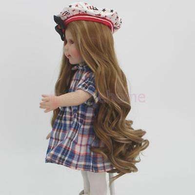 "MagiDeal 2pcs Gradient Long Curly Hair Wig for 18"" American Girl Doll Making"