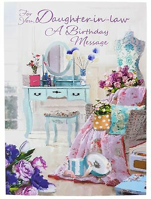 Daughter In Law Birthday Message Greetings Card 195Cm X 135Cm