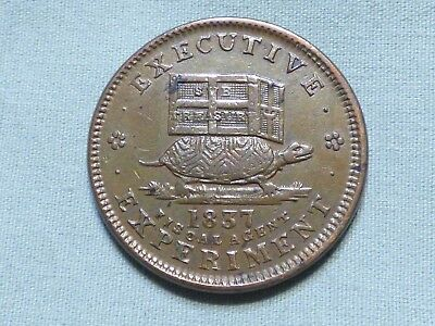 Rare 1837 Hard Times Pre Civil War Token With Turtle & Donkey - Item 27