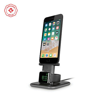 Twelve South HiRise Duet | Dual Charging Stand for iPhone and Apple Watch