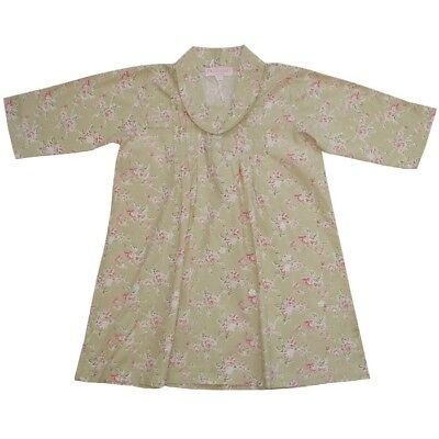 Hand Made Girls Powell Craft Nightdress 100% Cotton Country Rose BNWT  1-2yrs