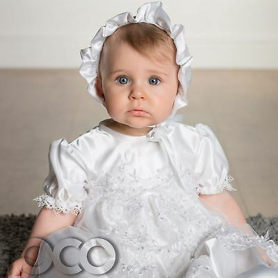 White Christening Gown, Baby Girls Dress, Christening Outfits For Girls