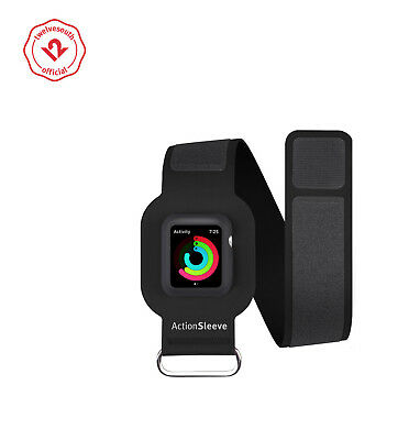Twelve South ActionSleeve for Apple Watch | Armband for 38mm Apple Watch (black)