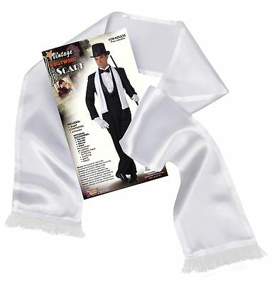 Adult Mens 20s Gangster Pimp Mob Satin Scarf Fancy Dress Al Capone Accessory New