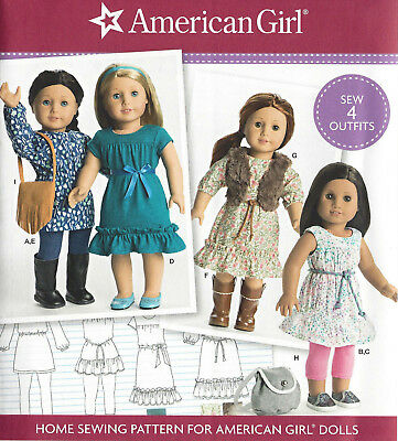 "18"" AMERICAN GIRL DOLL Modern Clothes Purse Simplicity 8282 Sewing Pattern UNCUT"