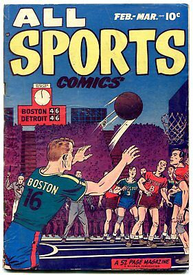 All Sports #3 1949- Golden Age Comic-Tom Molineaux VG