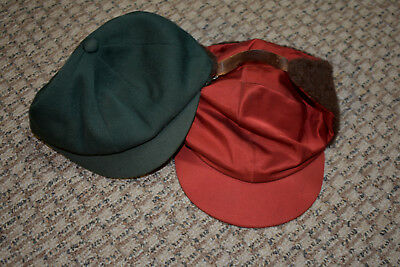Set of 2 Vintage 1950s Boys' Hats Caps with Earflaps